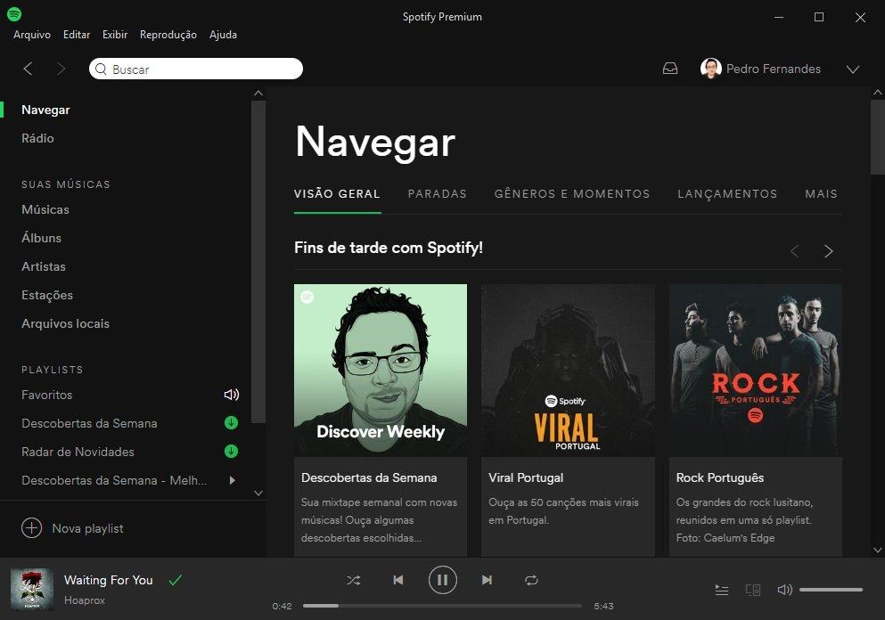 nova interface do Spotify