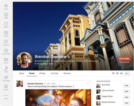 Google Plus - Novo design