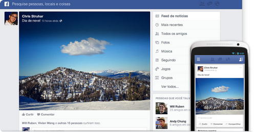 Facebook - Novo feed de noticias