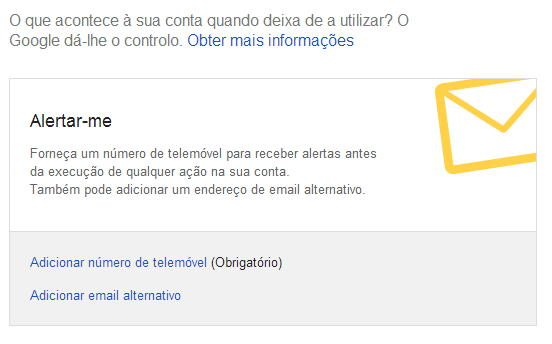Google Contas Inativas