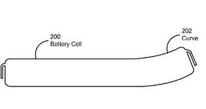 Apple baterias curvas