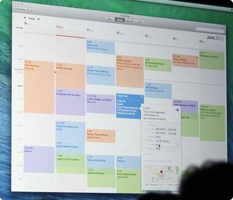Calendário Mac OS