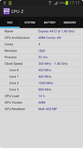 CPU-Z para Android