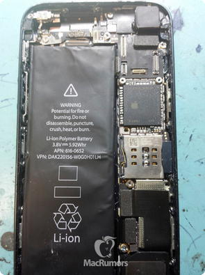 iPhone 5S interior