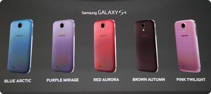 Novas cores Samsung Galaxy S4