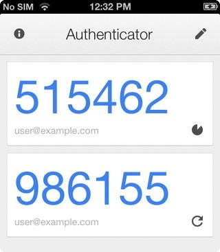 Google Authenticator iOS