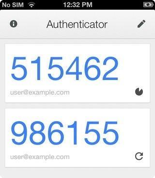 Google Authenticator iOS