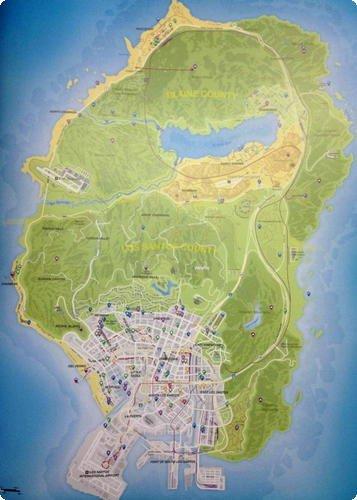 GTA V Mapa