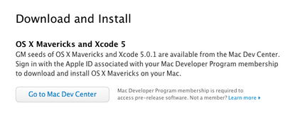 Golden Master build of OS X 10.9