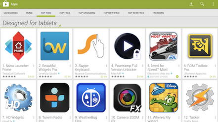 google play tablets