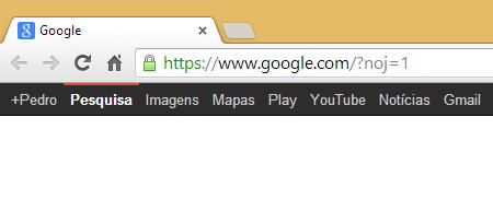 Google bar black