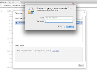 google chrome passwords