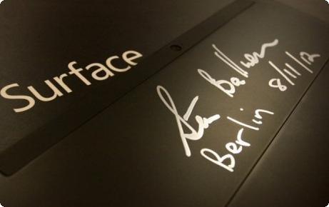 Surface assinado por Steve Ballmer