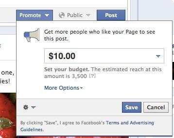 Mensagens Promovidas no Facebook