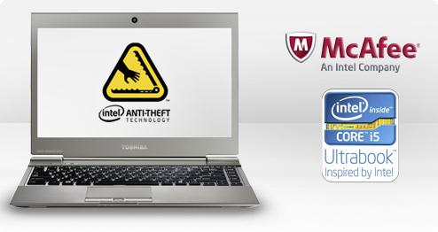 Toshiba e McAfee Anti-Theft 2.0