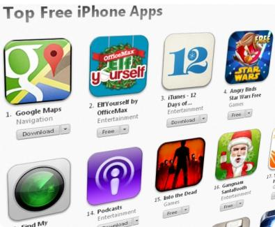 App Store e Google Maps