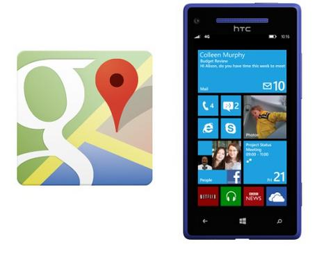 Google Maps no Windows Phone