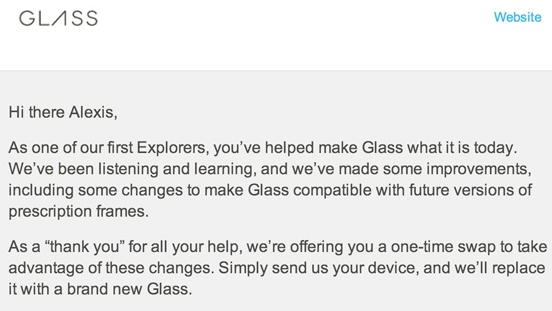 google glass upgrade
