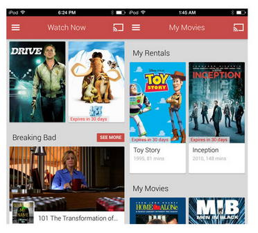 Google Play Movies & TV iOS
