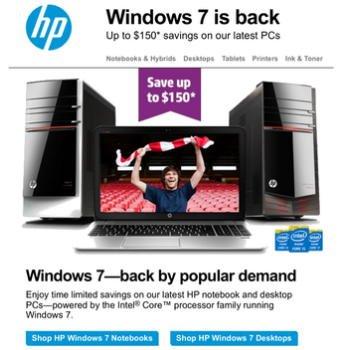 Windows 7 na HP