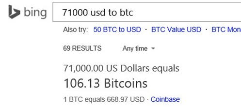 bing bitcoin