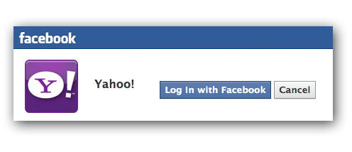 yahoo login via facebook
