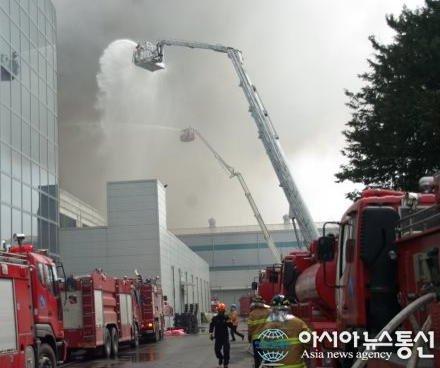 incêndio fabrica samsung