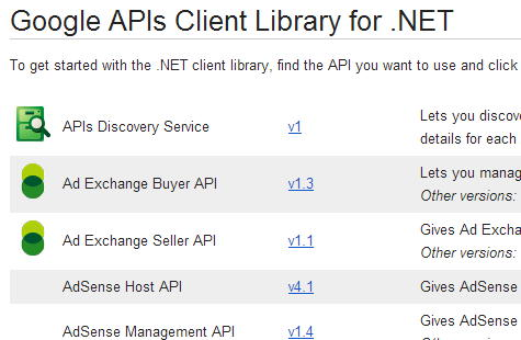 Google api windows phone