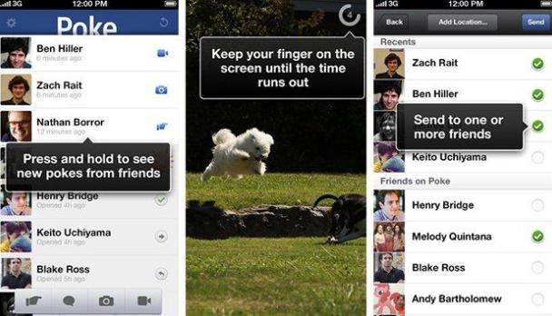 facebook poke e camera