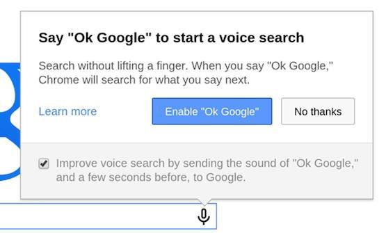 chrome ok google