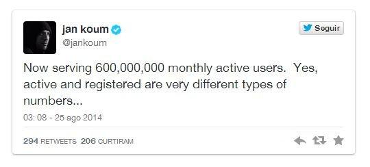whatsapp 600 milhões