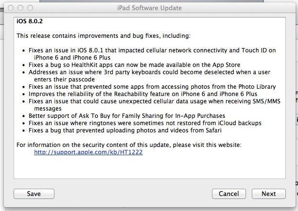 iOS 8.0.2