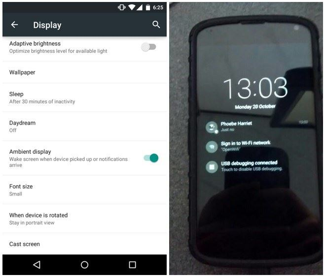 Android ambient display