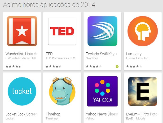 google play lista 2014