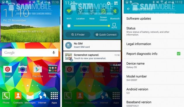 samsung galaxy s5 android 5.0