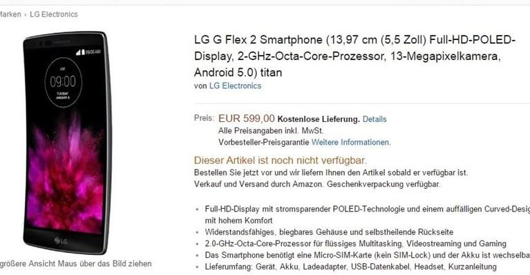 lg g flex 2 amazon