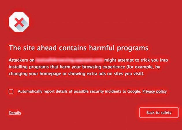 Chrome alerta
