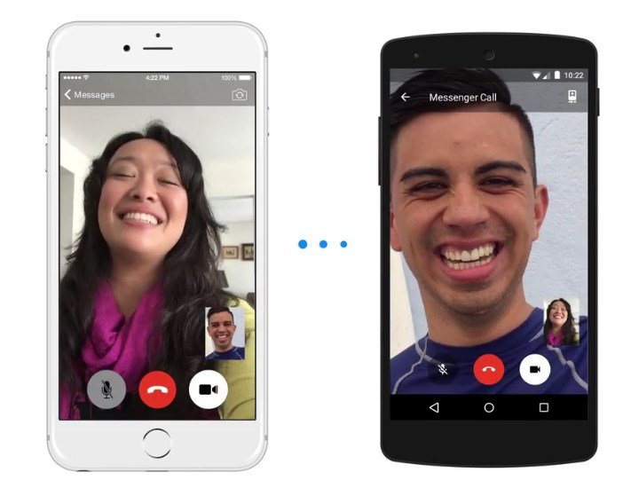 facebook video chamada messenger