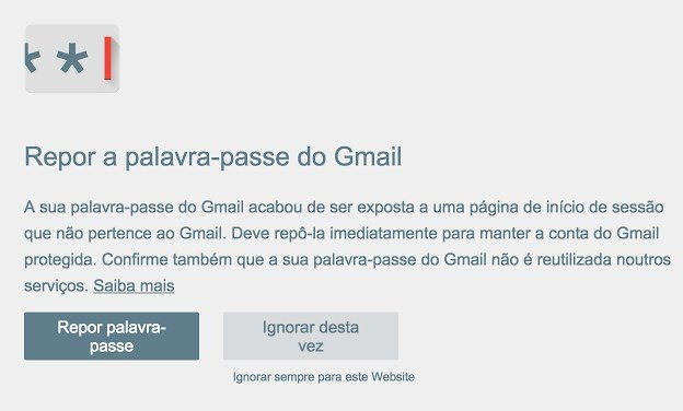alerta de password chrome