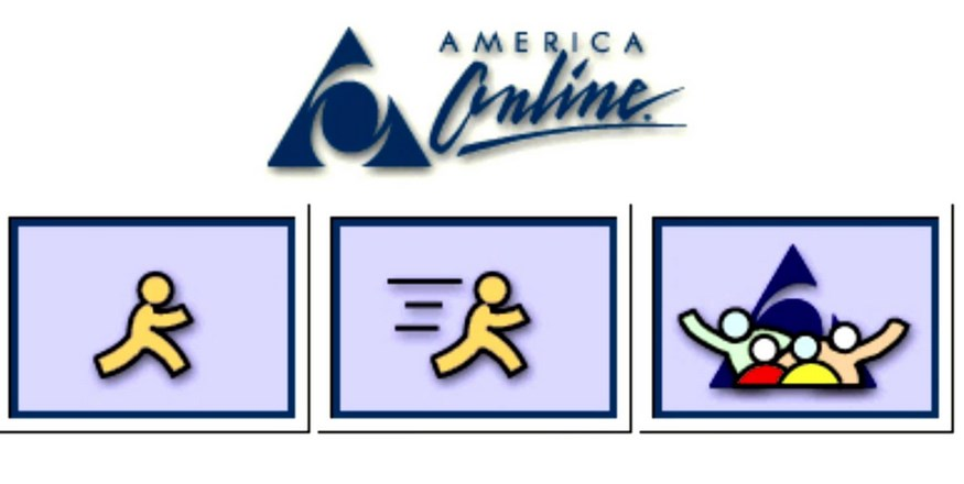 aol logo antigo