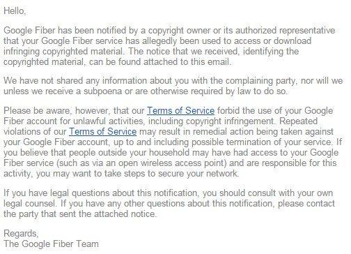email pirataria google
