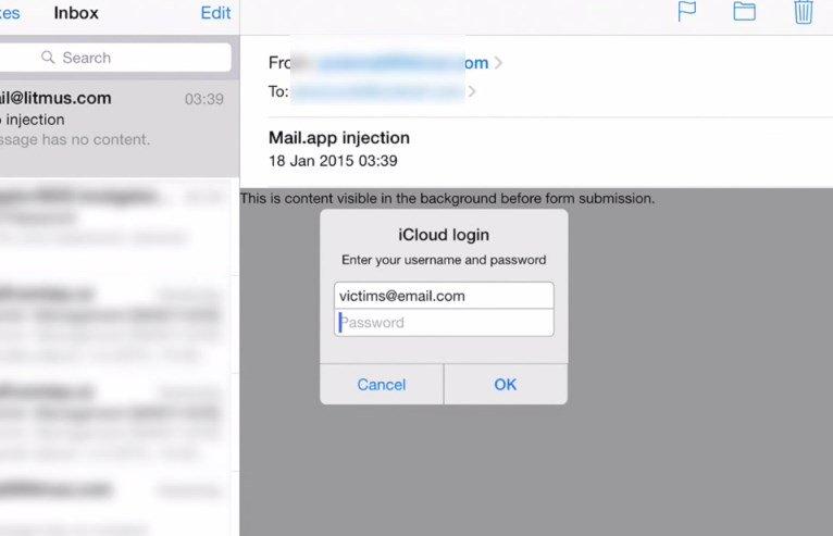ios mail vulnerabilidade