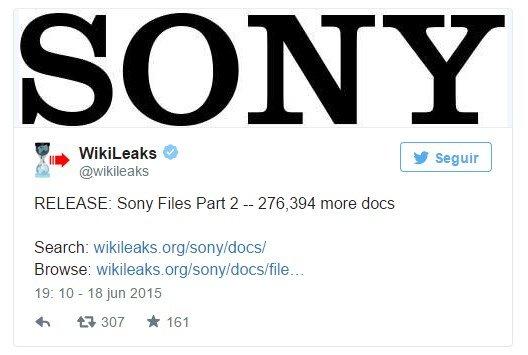 wikileaks sony