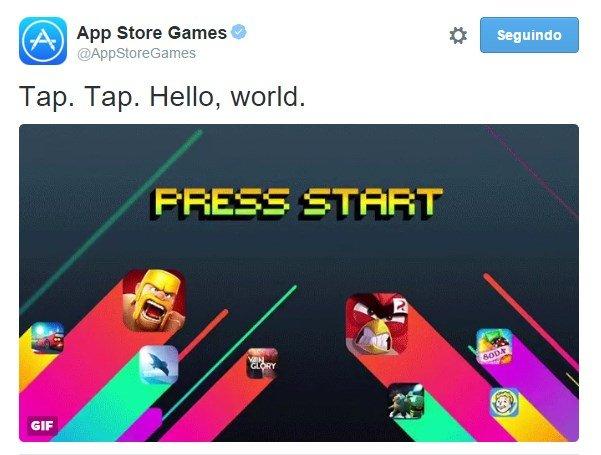 apple jogos twitter