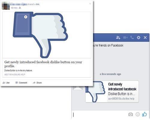 facebook não gosto