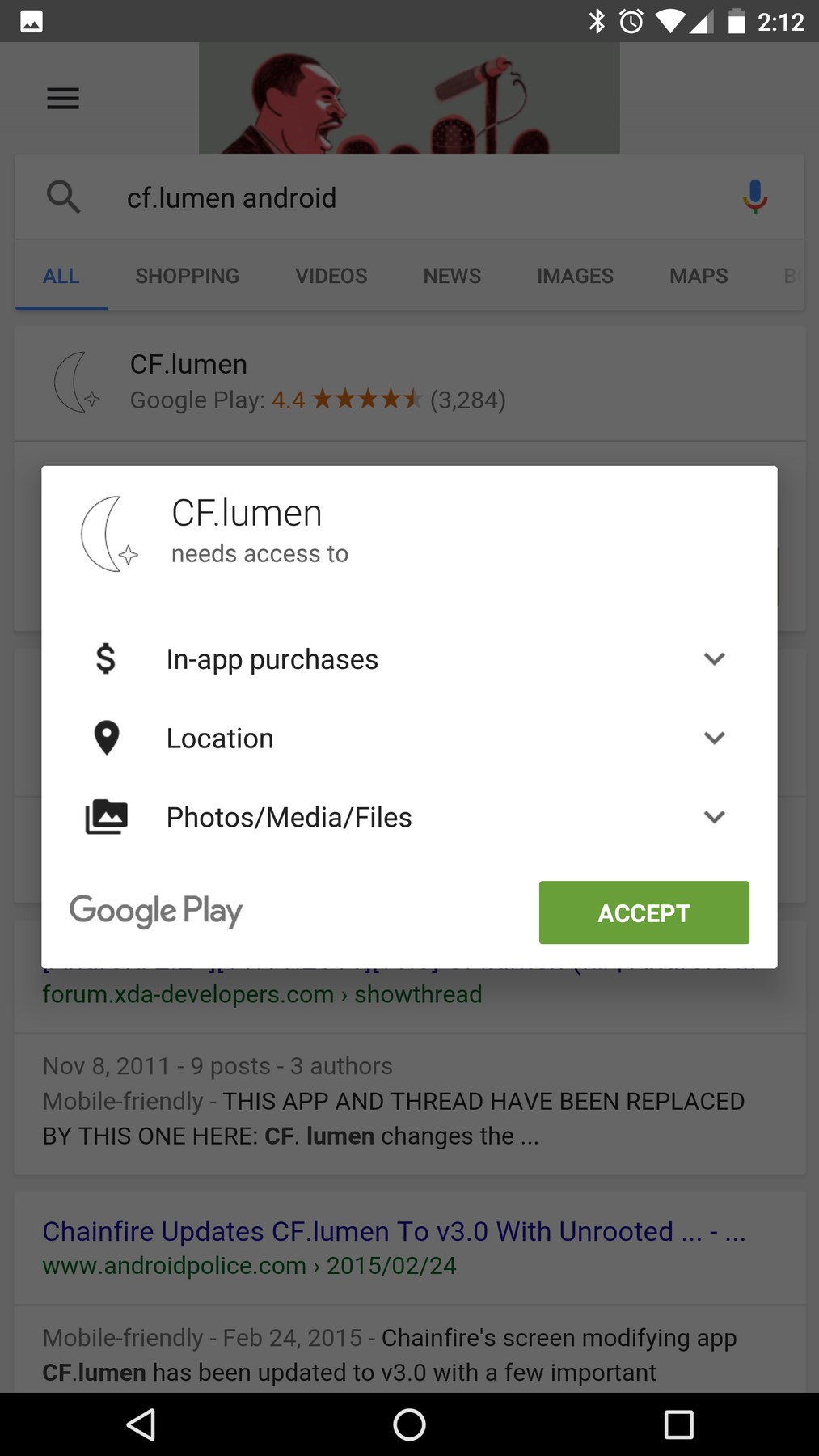 google pesquisa no android