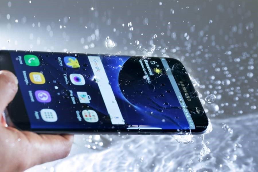 samsung galaxy s7 água