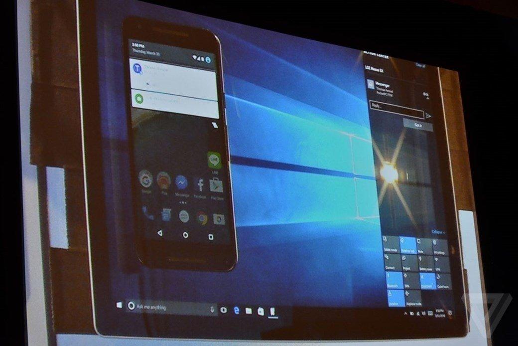 notificações android windows