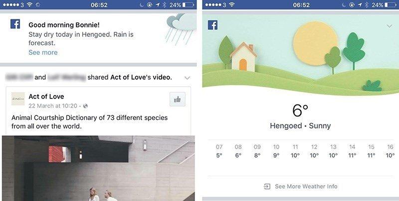 facebook estado tempo