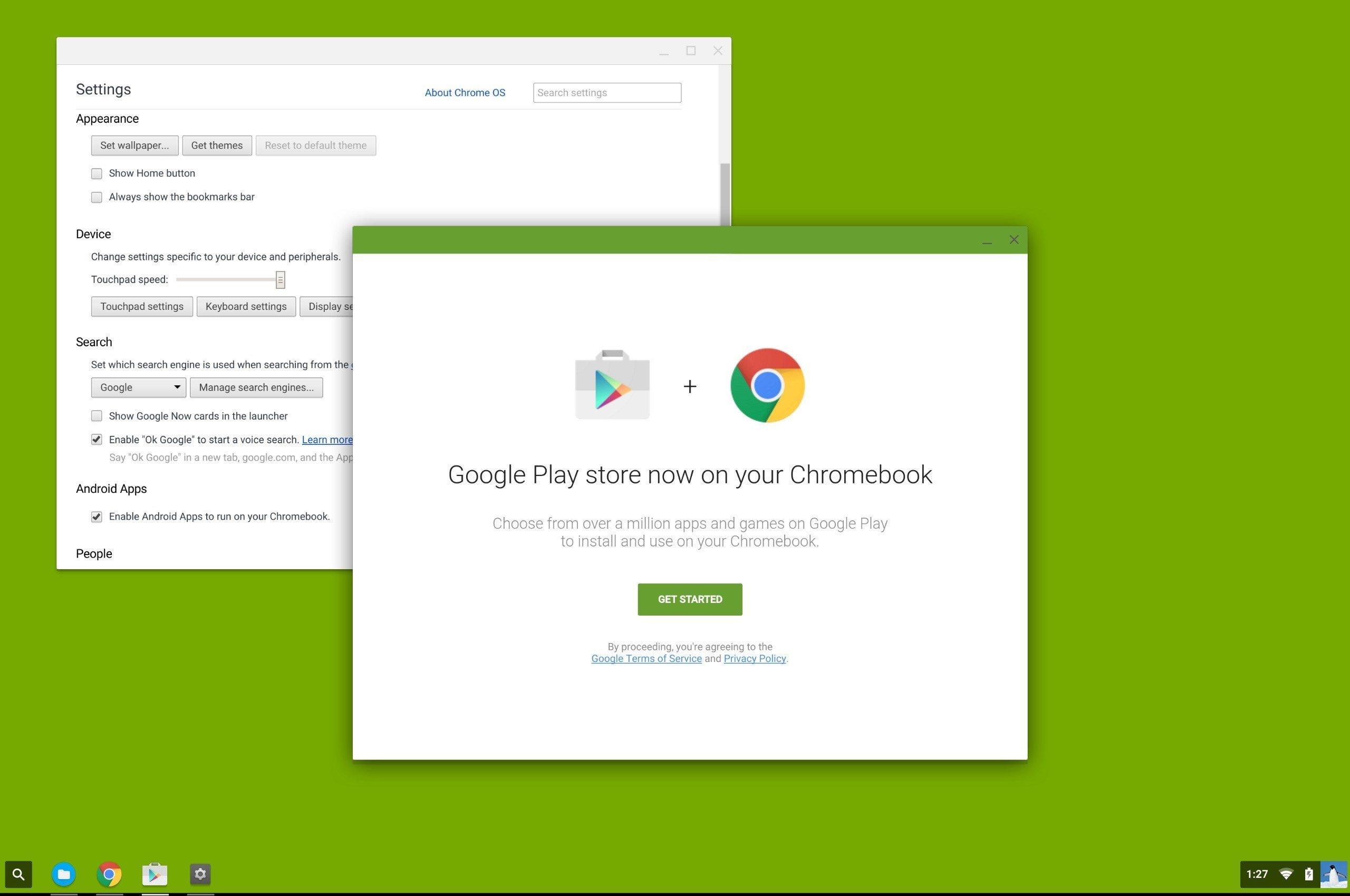 Aplicações Android no Chrome OS